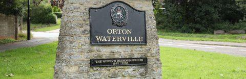 Silver Jubilee sign in Orton Waterville